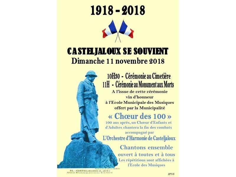 image de Cérémonie du 11 Novembre : 1918 - 2018, Casteljaloux se souvient