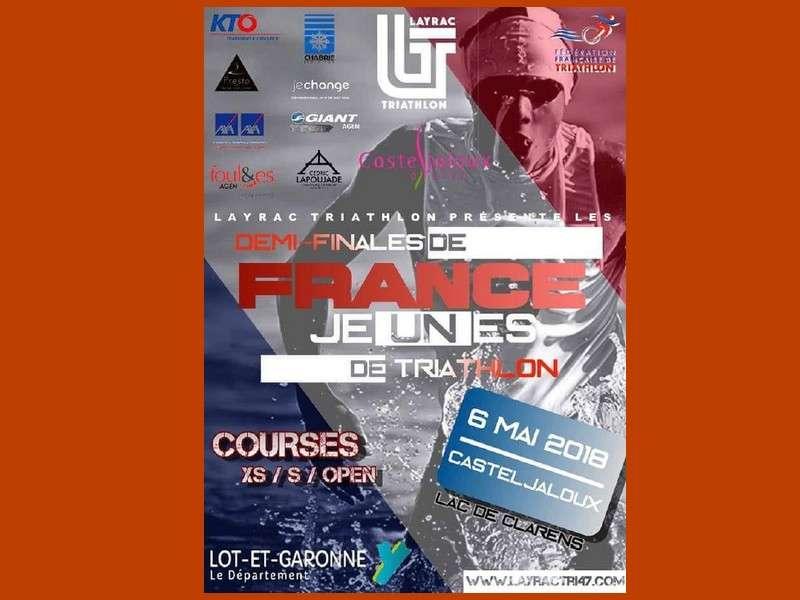 image de Demi-finales du Championnat de France de Triathlon jeunes