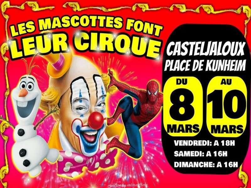 image de Les mascottes font leur cirque