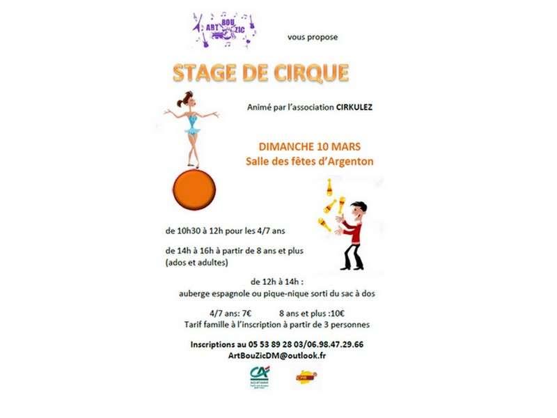 image de Stage de cirque